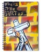 Bearing The Cross Spiral Notebook