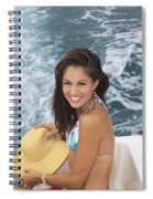 Beautiful Girl Boating Spiral Notebook