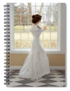 Beautiful Lady By Window Spiral Notebook