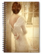 Beautiful Lady In Sequin Gown Looking Out Window Spiral Notebook