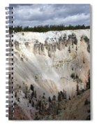 Beautiful Lighting On The Grand Canyon In Yellowstone Spiral Notebook