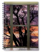 Beautiful Sunset Bay Window View Spiral Notebook
