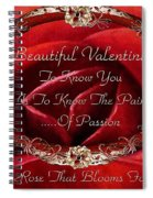 Beautiful Valentine Spiral Notebook