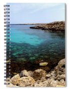 Beautiful View On Mediterranean Sea Cape Gkreko In Cyprus Spiral Notebook