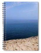 Beautiful View On Mediterranean Sea From Cape Gkreko In Cyprus Spiral Notebook
