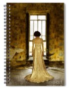 Beautiful Woman In Lace Gown In Abandoned Room Spiral Notebook