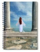 Beautiful Woman In White Spiral Notebook