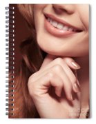 Beautiful Young Smiling Woman Mouth Spiral Notebook