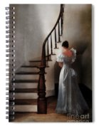 Beautiful Young Woman Standing In Gown By Stairs Spiral Notebook