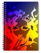 Beauty In The Neon Light Spiral Notebook