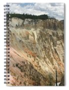 Beauty Of The Grand Canyon In Yellowstone Spiral Notebook