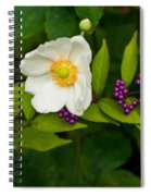 Beautyberry And Anemone 2 Spiral Notebook