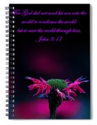 Bee Baum John 3 17 Spiral Notebook