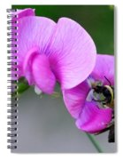 Bee In The Pink - Greeting Card Spiral Notebook