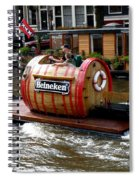 Beer Boat Spiral Notebook