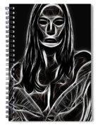 Behind A Mask Spiral Notebook