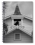 Bell Tower In Black And White Spiral Notebook