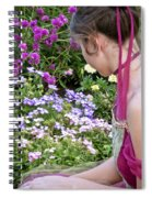Belle In The Garden Spiral Notebook