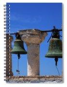 Bells Of Santorini Greece Spiral Notebook