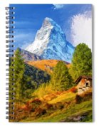 Below The Matterhorn Spiral Notebook