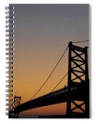 Ben Franklin Bridge Sunrise Spiral Notebook