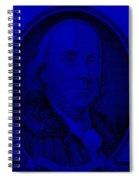 Ben Franklin In Blue Spiral Notebook