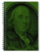Ben Franklin In Dark Green Spiral Notebook