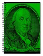 Ben Franklin In Green Spiral Notebook