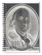 Ben Franklin In Negative Spiral Notebook