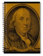 Ben Franklin In Orange Spiral Notebook