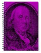 Ben Franklin In Purple Spiral Notebook