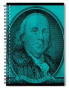 Ben Franklin In Turquois Spiral Notebook