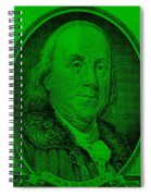 Ben Franklin Ingreen Spiral Notebook