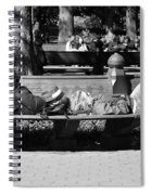 Bench Bums In Black And White Spiral Notebook