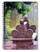 Bench By The Lake Spiral Notebook