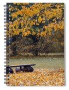 Bench In The Autumn Landscape Spiral Notebook