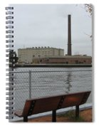 Bench With Industrial View Spiral Notebook