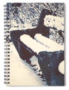 Bench With Snow Spiral Notebook