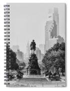 Benjamin Franklin Parkway In Black And White Spiral Notebook