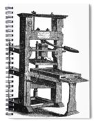 Benjamin Franklins Printing Press Spiral Notebook