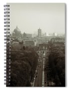 Berlin From The Victory Column Spiral Notebook