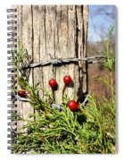Berries And Barbs Spiral Notebook