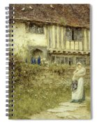 Beside The Old Church Gate Farm Smarden Kent Spiral Notebook