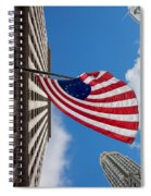 Betsy Ross Flag In Chicago Spiral Notebook
