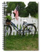 Bicycle And Picket Fence Spiral Notebook