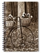 Bicycle Built For Three Spiral Notebook