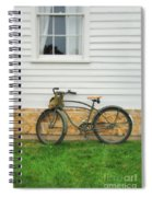 Bicycle By House Spiral Notebook