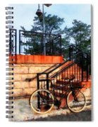 Bicycle By Train Station Spiral Notebook