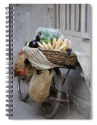 Bicycle Loaded With Food, Delhi, India Spiral Notebook
