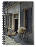 Bicycle On A Street By The Zuider Zee  Spiral Notebook